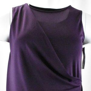 !!~ Dark Purple Sleeveless Wrap Over Top ~!!